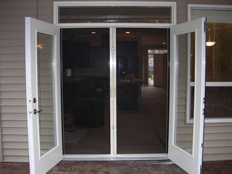 screen door for outward swinging door doors astounding french doors with screens built in best