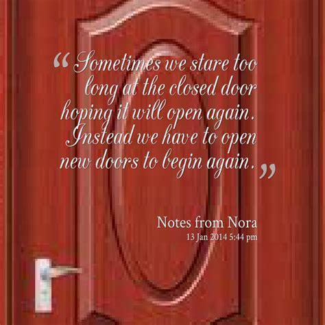opening new doors quotes quotesgram