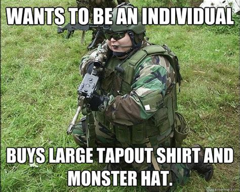 Tapout Meme - wants to be an individual buys large tapout shirt and
