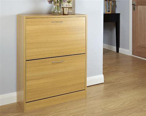 Oak Shoe Cabinet by Humphrey Two Tier Shoe Cabinet Oak Amc Furniture