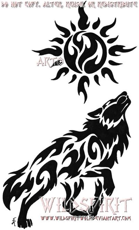 celestial sun wolf tattoo by wildspiritwolf on deviantart