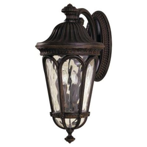 regent outdoor lighting feiss regent court 4 light walnut outdoor wall lantern
