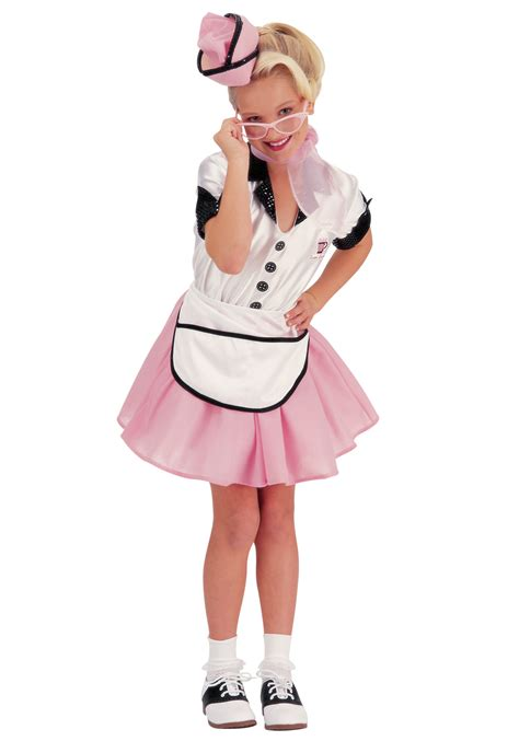 50 girl halloween costumes 50s child soda pop girl costume