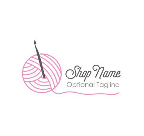 knitting logo crochet logo yarn logo handmade shop logo knit logo
