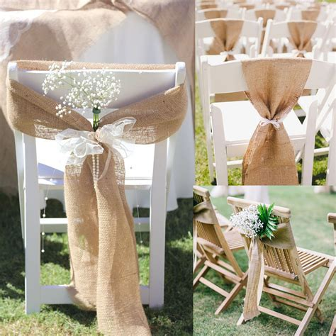 17cm x 275cm Naturally Vintage Burlap Chair Sashes Jute