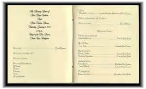 sle wedding programs outline program for the wedding ceremony