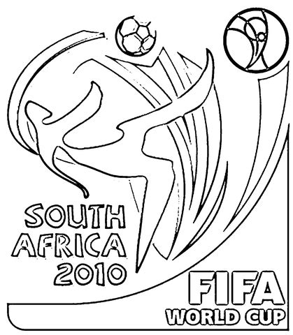 Fifa 2010 World Cup Worksheets Printable Infocap Ltd World Cup Coloring Pages