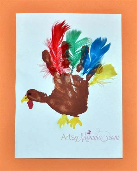 turkey feather template for handprint craft turkey crafts for preschoolers feather counting activity