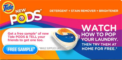 tide pod coupons 2012 printable tide free tide pods sle for first 500 000