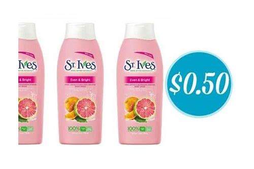st ives lotion printable coupon
