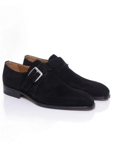 stemar cremona suede monk shoes in black for lyst