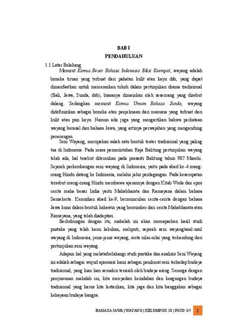 Contoh Cerita Wayang - Guru Paud