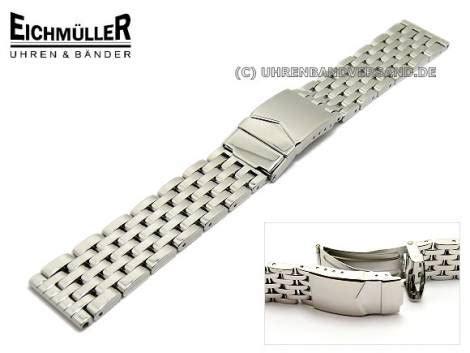 Edelstahl Uhrenarmband Polieren by Uhrenarmband Edelstahl 20mm Poliert Massiv Eichm 252 Ller