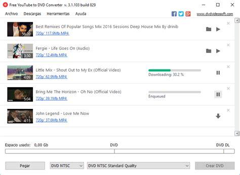 descargar youtube download mp3 converter conversor y grabador gratis de v 237 deo de youtube a dvd