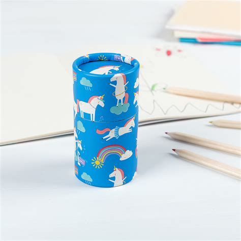 Finite Stationery Set In Tin Pencil Fancy Stationery Set magical unicorn colouring pencils set of 36 rex dotcomgiftshop