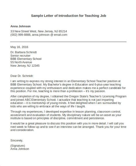 letter of introduction sle best introduction letter for resume letter format writing
