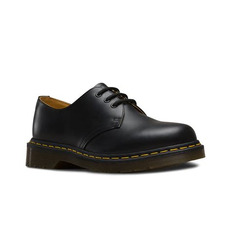 Dr Martens 1461 Black 3 dr martens 1461 3 eye shoe black smooth