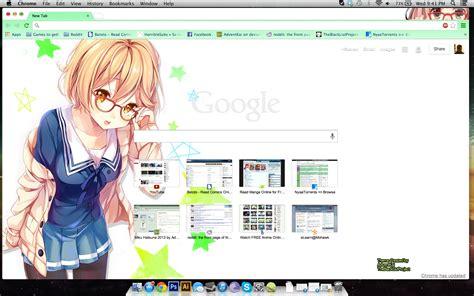 theme google chrome kyoukai no kanata mirai kuriyama by adventkai on deviantart