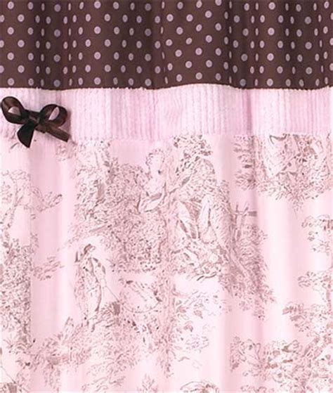 pink and brown shower curtains pink brown toile french country bath fabric shower curtain