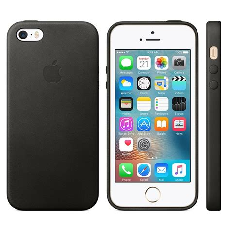 iphone se 5s 5 iphone 5 5s se apple leather mmhh2zm a black