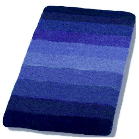 Palace Striped Plush Bathroom Rug In Orange Blue Or Red Blue Bathroom Rugs