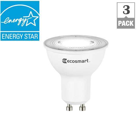 50w equivalent mr16 gu10 light bulbs ecosmart 50w equivalent bright white mr16 gu10 led light