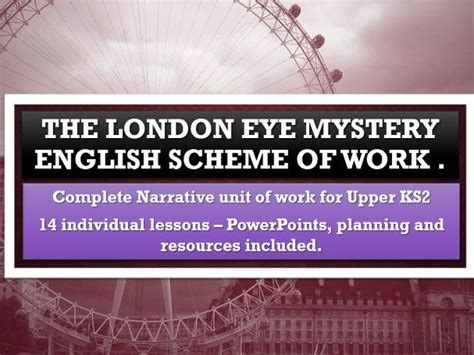 themes in the london eye mystery raphella s shop teaching resources tes