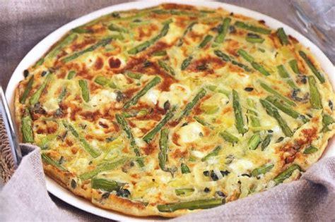 cottage cheese frittata asparagus and goat s cheese frittata recipe taste au