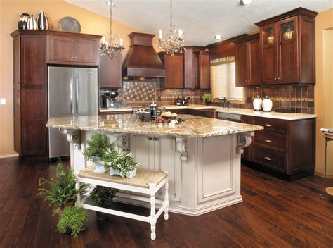 Kitchen Light Cherry Cabinets Painted Island Kitchen Island Cabinet Ideas