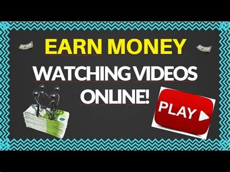 Make Money Online Watching Videos - how to earn money by watching youtube videos online ged paid fast earn easy cash