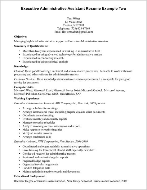 Professional Summary For Resume For Assistant by Professional Summary On Resume For Assistant