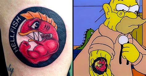 10 hellfish tattoos for all simpsons fans tattoodo