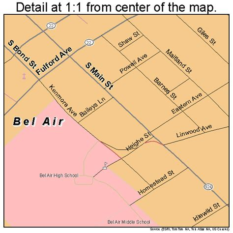 maryland map bel air bel air maryland map 2405550