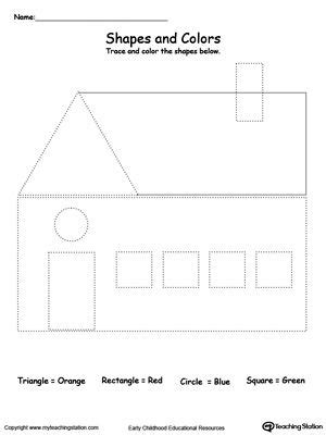 home design worksheet a house shape and shape activities on pinterest