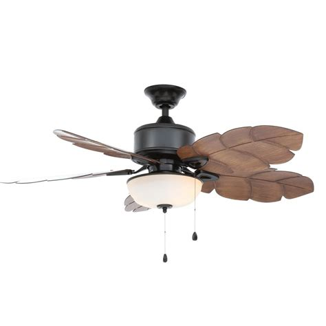 home depot led ceiling fan home decorators collection palm cove 52 in led indoor