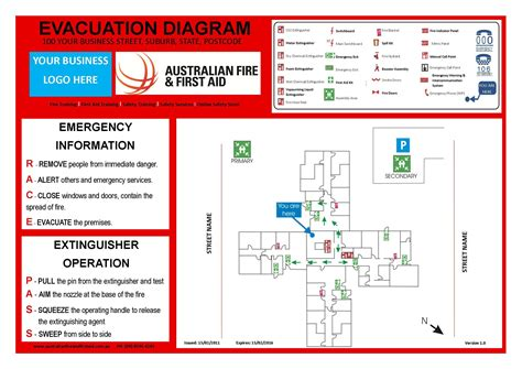 evacuation plan template nsw emergency evacuation template australia templates