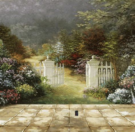 Garden Wall Paint Beautiful Garden Wall Murals Painting Outdoor Murals