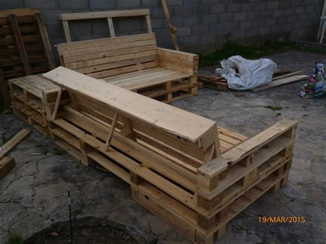 pallet outdoor sectional pallet sectional patio set