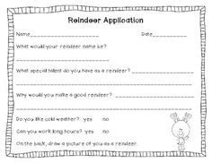 printable reindeer application reindeer career counseling and counseling on pinterest