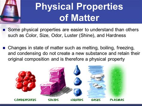 properties of matter for how are physical and chemical properties different ppt