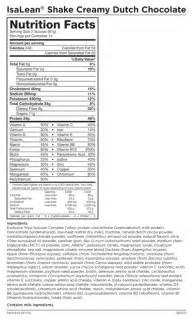 isagenix isalean protein shakes nutrition facts