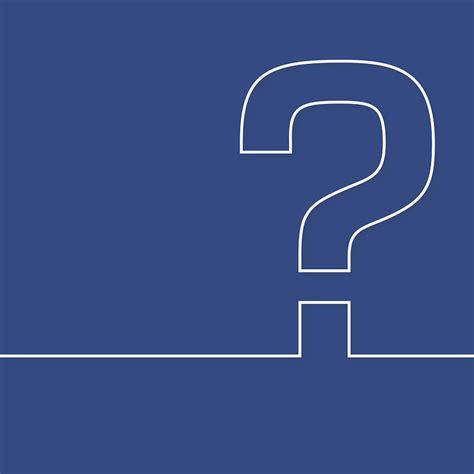 vector graphic question mark  icon blue