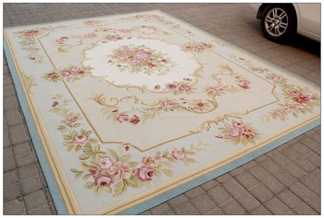Pink Area Rugs 8x10 8x10 Light Blue Aubusson Rug Shabby Pink Chic Wool Ivory Carpet New Ebay