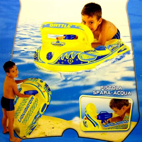 inflatable boat with water pistol inflatable lilo boat gun water blaster pistol pool kick
