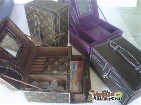 Cosmetic Bag Organizer Lv Mono Kulit Tas Kosmetik Pouch Travel new model jewelry box motif lv mono jogja handycraft