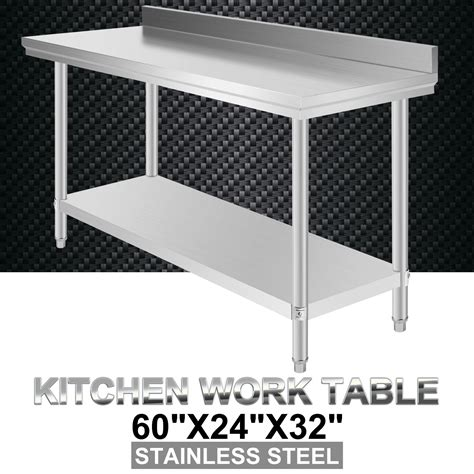 stainless steel prep table commercial stainless steel food work prep table 60 x 24
