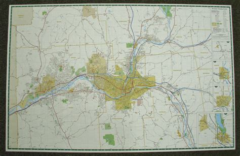 binghamton map binghamton broome co paper wall map 171 jimapco