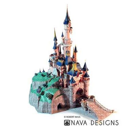 Sleeping Castle Papercraft - sleeping castle papercraft disneyland