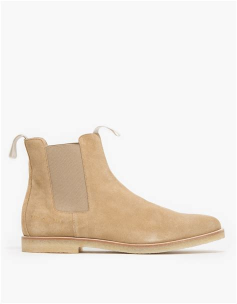 by common projects boots common projects suede chelsea boots in brown lyst