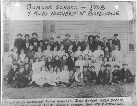 Pope County Arkansas Court Records 1908 Gumlog School Photo
